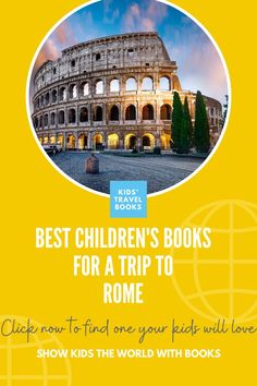 Trips with kids deserve a special amount of prepping, and these books, are here to help kids visiting Rome - The Best Children's books for a trip to Rome. Rome Travel, Travel Books, Italy For Kids, Planet For Kids, Italy Pictures, History For Kids, Best Children Books, Early Readers, World Of Books
