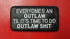 OUTLAW BIKER PATCH