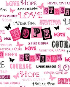 Ribbons of Hope - Love, Courage, & A Pink Ribbon - White