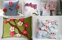 Decora un cojin con flores de fieltro! - Manualidades Gratis