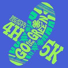 4H Go for the Green    KEN YOUNG CO    shirt design, tshirt design ideas, decatur county, baingbridge, georgia, inspiration, event shirts, fundraiser event, 4-H 5K event, head heart hands health