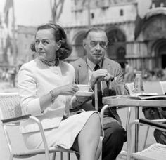 Paulette with last husband Erich Maria Remarque in Venice