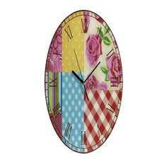 IMAX County Fair Patchwork Wall Clock - 94283