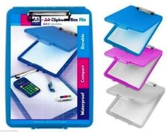 A4-CLIPBOARD-BOX-FILE-DURABLE-WATERPROOF-OUTDOOR-FILING-OFFICE