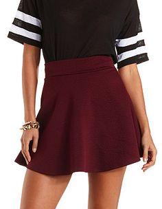 Quilted Skater Skirt: Charlotte Russe