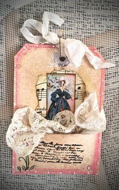 Tag Art, Elegant Lady Eve by Christine LeFever