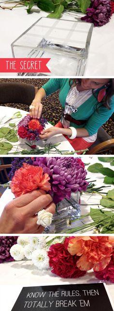 Projects: Flower Arrangements Secret to Easy Flower Arrangements! [ ]Secret to Easy Flower Arrangements! Rosen Arrangements, Flower Arrangements Simple, Diy Flowers, Fresh Flowers, Beautiful Flowers, Exotic Flowers, Flowers Garden, Purple Flowers, Deco Floral