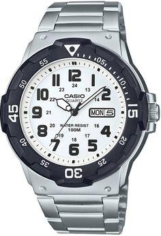Casio Men's Diver Style Quartz Watch with Stainless Steel Strap, Silver, (Model: Smartwatch, Stainless Steel Watch, Stainless Steel Bracelet, Casual Watches, Watches For Men, Casio Digital, Dove Men, Casio Watch, Black