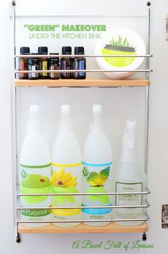 "Switching out your chemical cleaners for homemade ""green"" cleaners {via: Bowl Full of Lemons}."