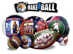 Make-A-Ball Custom personalized baseballs, Softballs, Soccer Balls, Footballs, Volleyballs, Basketballs and Hockey Pucks! Get them at http://www.makeaball.com