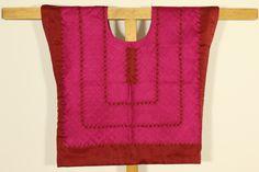 Mexican blouse: traditional outfit, style old huipil, mexican huipil, Oaxaca huipil, ethnic huipil, style Frida Kahlo, cadenilla fiucsa de CadenillayFlores en Etsy