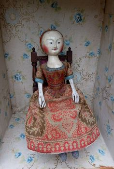 a late 17th century English wooden doll, by The Old Pretenders