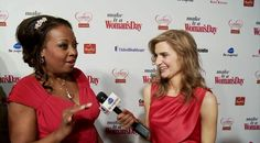 "Michelle Dudash interviewing Star Jones at Woman's Day Red Dress Awards. Love her. So much more than depicted on ""The View""."