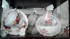 Vintage cups & saucers make a unique Mother's Day gift.