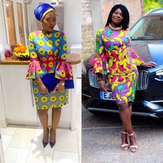 """When a client slays her dress 💯❤️ satisfying feeling """" 😌💃🏽 It's time to order your style; select your fabric and let Jossie handle the rest❣️ God bless Have a great weekend 😘😘😊 Photography 📸 # Hubby ❤️❤️❤️ Best African Dresses, African Fashion Ankara, African Print Dresses, African Lace, African Attire, African Wear, African Women, Ankara Styles For Women, Kente Styles"""