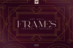 Art Deco Frames, Corners, Deviders