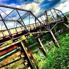Bridge over Clark Fork River Missoula, Montana