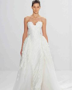 Mark Zunino for Kleinfeld Fall 2017 Wedding Dress Collection | Martha Stewart Weddings – Strapless ball gown wedding dress