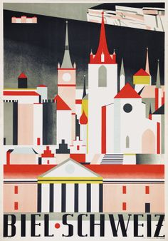 Biel. Schweiz. Adolf Funk. 1931.