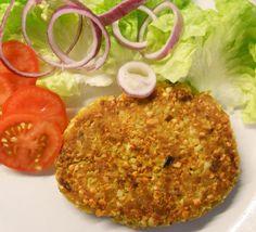 Nut and butternut squash rissoles - vegetarian recipe