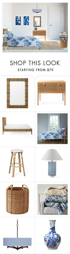 """Clear space: Rustic Bedroom in Minimalist Style"" by rosidew ❤ liked on Polyvore featuring interior, interiors, interior design, home, home decor, interior decorating, Serena & Lily, Cath Kidston, West Elm and Giclee Glow"