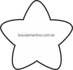 Moldes nuvem, gota, estrela e Lua para quarto céu - Baú de Menino, molde estrela. Felt Patterns, Applique Patterns, Craft Patterns, Sewing Patterns, Star Template, Templates, Felt Crafts, Diy And Crafts, Sewing Crafts