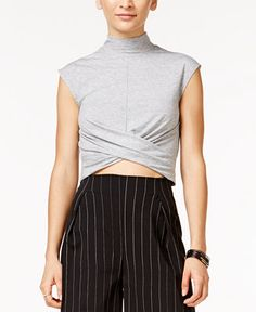 In Awe of You by Awesomeness TV Juniors' Twist-Front Crop Top - Juniors Tops - Macy's