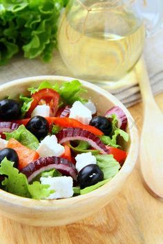 Bell Pepper salad with feta and olives