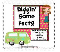 Classroom Freebies: Diggin' Math Facts!