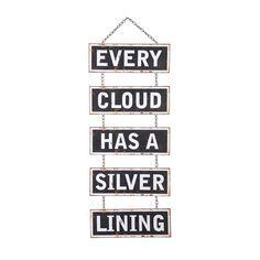 Silver Linings Hanging Sign   dotandbo.com