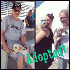Two paws up for Wilbur (left) and Mary Lou, who are going home with their pawsome new forever families today!