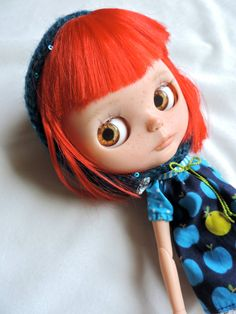 Blythe Doll Eyes Realistic Resin Chips in Amber by BeBeBlytheCo