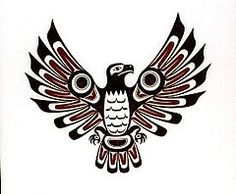 Tribal Tattoos The single most requested tattoo design. The most popular tribal designs are Maori, Haida and Polynesian designs. Thunderbird Tattoo, Native American Symbols, Native American Design, Cherokee Symbols, Native Canadian, Canadian Art, Art Haïda, Tatouage Haida, Pointillism