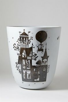 Grazia. Vase, designed by Stig Lindberg for Gustavsberg, Sweden. 1955.                 H: 29 cm/ 11 1/2''
