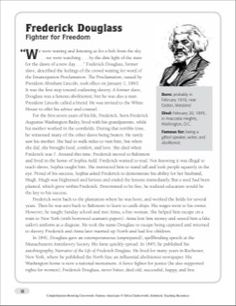 frederick douglass webquest key history com frederick  fredrick douglass essay frederick douglass nonfiction passage crossword puzzle by