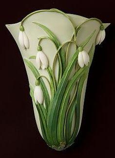 Snowdrops Wall Vase/Wall Pocket...IVET