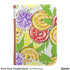 Pretty Floral  Grsaphic Big Summer Flowers Kindle Case