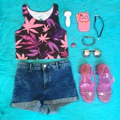#OOTD #MMJCOstyle featuring our BRAND NEW galaxy #WeedLeafCrop top!! Shop our new summer apparel from the link below! .•.•.•.•.•.•.•.•.•.•.•.•.•.•.•.•.•.•.•.•.•.•.•.•.•.•.•.•.•.•. \\ Look Good, Smoke Good. //✔️ www.MMJCO.com #MissMaryJaneCo #MissMaryJanesGlass #CannabisCouture #SmokeBoutique