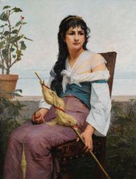 François-Alfred Delobbe - La Fileuse  (Sotheby's)