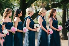 Jenny Yoo Navy Bridesmaid Dresses