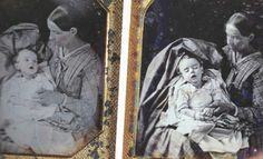 This baby had two photographs taken of him - one before, and one after he perished. Very rare in these times.
