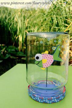 www.toutpetitrien.ch et http://pinterest.com/fleurysylvie/mes-creas-pour-les-kids/ #bricolage #enfant : petit poisson dans un bocal