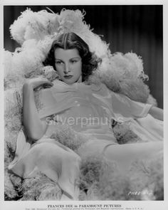 Orig 1936 FRANCES DEE Feathery Plumes.. Exquisite DBW GLAMOUR Portrait   eBay