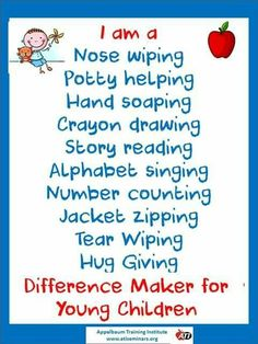 Difference maker #daycaretruths