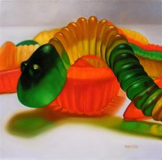 Gummy Worms, 2007 Oil on canvas Margaret Morrison