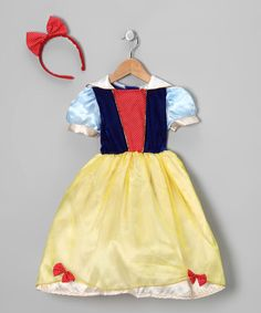 {Yellow Snow White Princess Dress-Up Set - Toddler & Girls by Story Book Wishes}