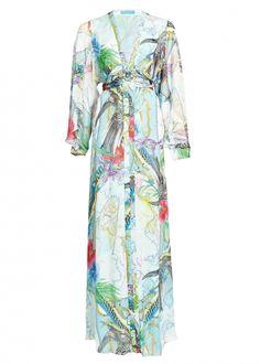 Atlas Silk Tie Back Gown - Dresses - Matthew Williamson