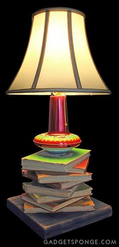 Repurposed Upcycled Lamp No. 14 Childrens Kids by GadgetSponge, $129.00