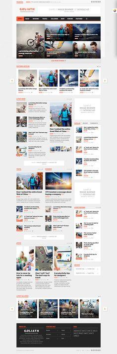 GOLIATH - Ads Optimized News & Reviews Magazine Wordpress Theme #magazinewp Live Preview and Download: http://ksioks.com/portfolio/goliath-ads-optimized-news-reviews-magazine/