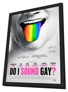 Do I Sound Gay? 11x17 Framed Movie Poster (2014)
